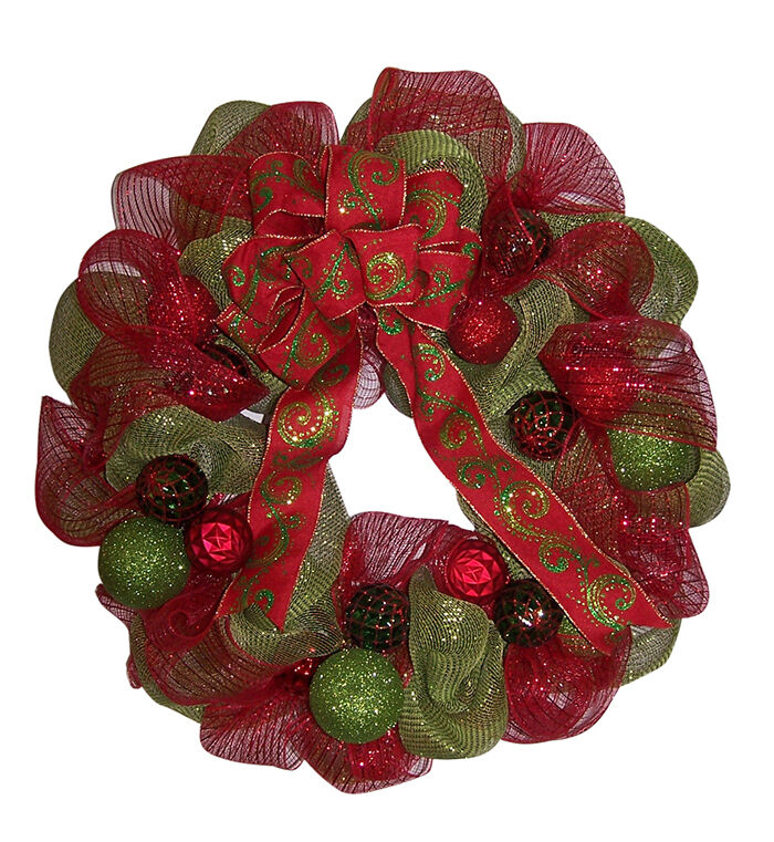 How to Make a Beautiful Mesh Ribbon Christmas Wreath | eBay