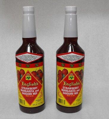 2x 32oz. Jonathan English Strawberry Margarita Daiquiri Frozen Drink Mix