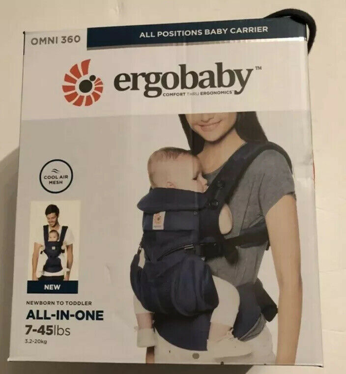 Ergobaby Omni 360 All In One Cool Air Mesh Baby Carrier Midnight Blue BRAND NEW