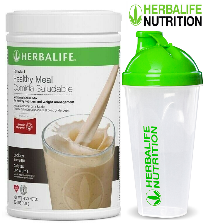 Herbalif Formula 1 Healthy Meal Nutritional Shake Mix Cookies 'n Cream and CUP