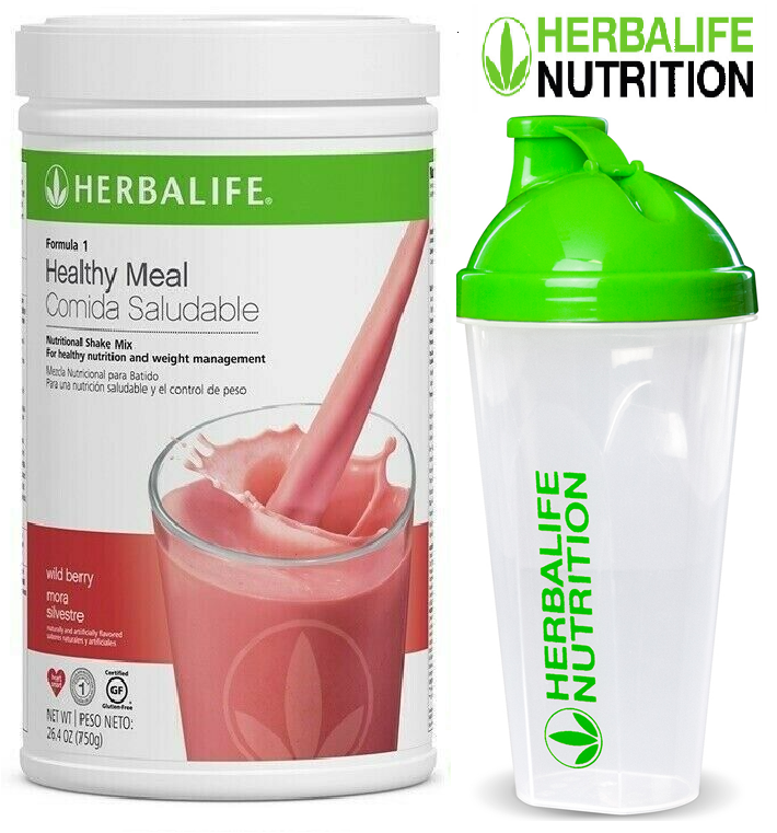 Herbalife Formula 1 Healthy Meal Nutritional Shake Mix Wild Berry & CUP