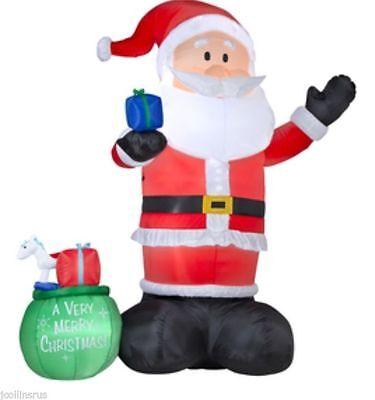 Christmas Huge 14 Ft Santa Bag Of Presents Airblown Inflatable Gemmy Yard Decor