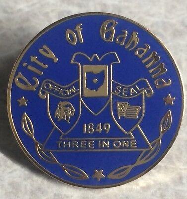 Vintage City Of GAHANNA Ohio Lapel Hat Pin