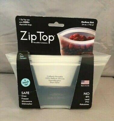 Zip Top Reutilizable Contenedores-1 Medio Plato (710ml) Helado Coloreado