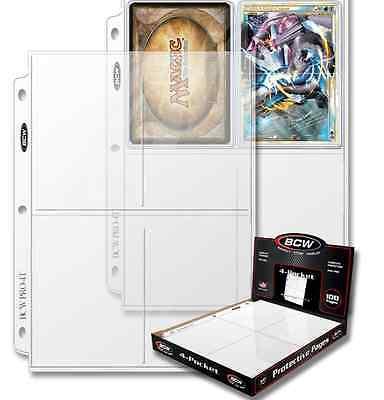 "( 20 ) 4 Pocket 3.5"" x 5.25"" Pro Photo Postcard Album Pages with Ultra Storage"