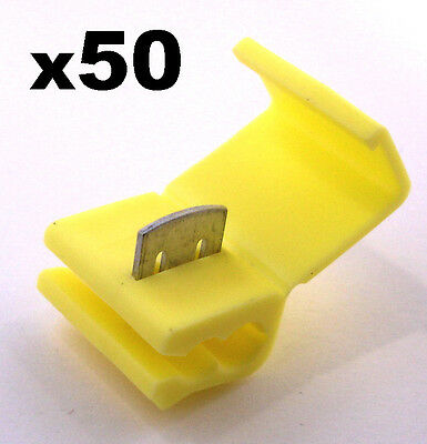 50x Yellow Snap-Lock ScotchLok Electrical Cable Splice and Feed Connectors