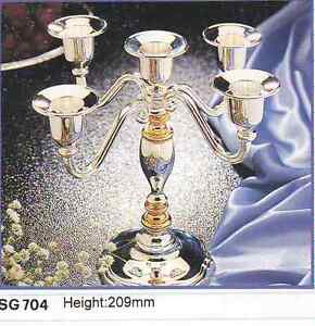 Wholesale Center piece Silver plated 5 arm candelabra