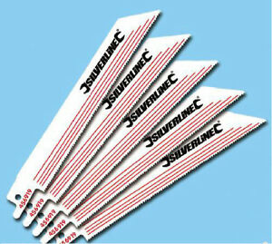 5 x RECIPROCATING SABER SAW BLADES 18 TPI 150MM NON-FERROUS METAL CUTTING