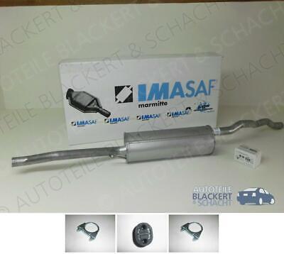 IMASAF Auspuff Mitteltopf+A-Teile für VW/FORD/SEAT Sharan/Galaxy/Alhambra 1.9TDi