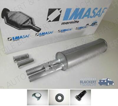 IMASAF ESD Auspuff Endtopf+Anbauteile+Blende für Mercedes-Benz W111+W108+W109