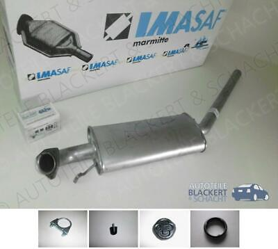 IMASAF MSD Auspuff Mitteltopf für Audi 100+A6+Avant 2.6+2.8+2.5 TDi 1990-1997
