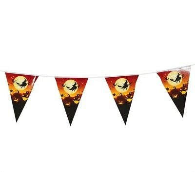 Halloween Party FLYING WITCH Hanging Garland Pennant Banner Home Decoration