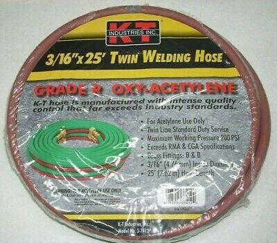 Kt Industries 3-7412 Oxy-acetylene 316 X 25 Twin Welding Hose W B-size Fittings