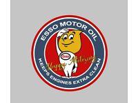 100mm Esso oil Drip Man Stickers