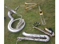 Brass Band seeking for a tenor/alto saxophone
