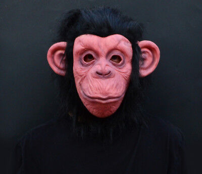 2018 Lazy Song Monkey Halloween Costume Adult Ape Mask FREE SHIP - Masquerade Halloween Song