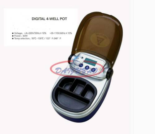 SJK Dental Analog Digital Wax Heater 4-well Pot Melting Dentist Lab Equipment