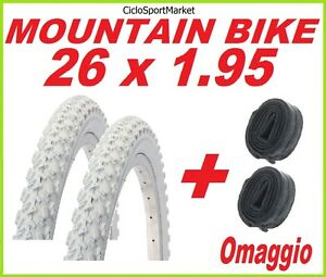 2-x-Tyre-26-X-1-95-WHITE-bike-MOUNTAIN-bike-2-x-INNER-TUBE-FREE-GIFT