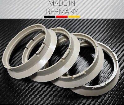 4 X Zentrierring BEIGE 64.0 x 57.1mm Audi VW Seat Mercedes Skoda BMW