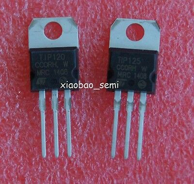 10pairs New Tip120 Npn Tip125 Pnp Darlington Transistor To-220 St