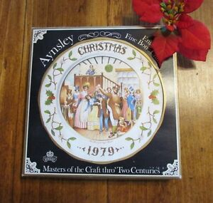 "1979 Aynsley Christmas Plate ""Mr Fezziwigs Ball"" Christmas Carol Kitchener / Waterloo Kitchener Area image 2"