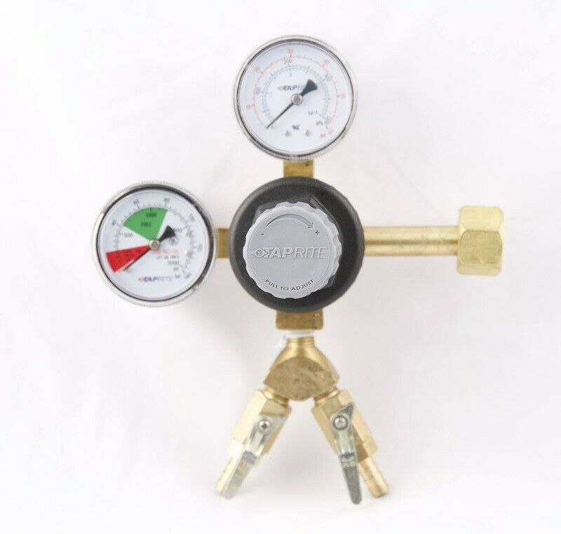 T742-2 Primary Beer Regulator, 1 pressure, 2 product