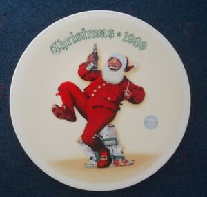 Norman Rockwell Jolly Old Saint Nick Plate