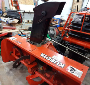 Kubota B2771 Front Mount Snowblower and B2761 Subframe