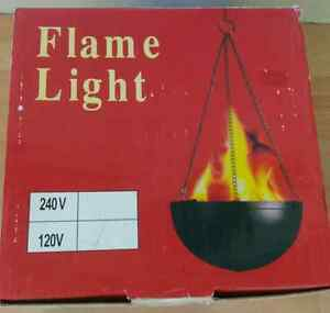 120v Flame light