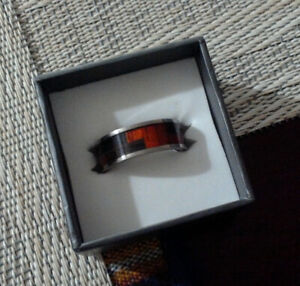 Titanium and Tungsten Carbide Rings Size 9.5