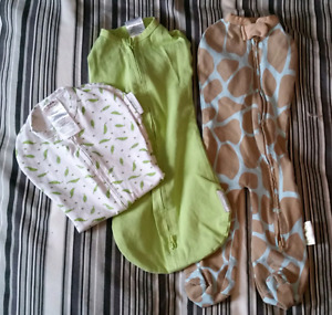 Baby woombie zip up swaddle