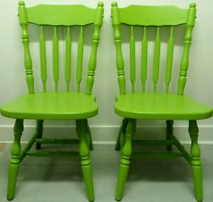 COLOUR of the YEAR Modern ARROW BACK Chairs Vintage Antique