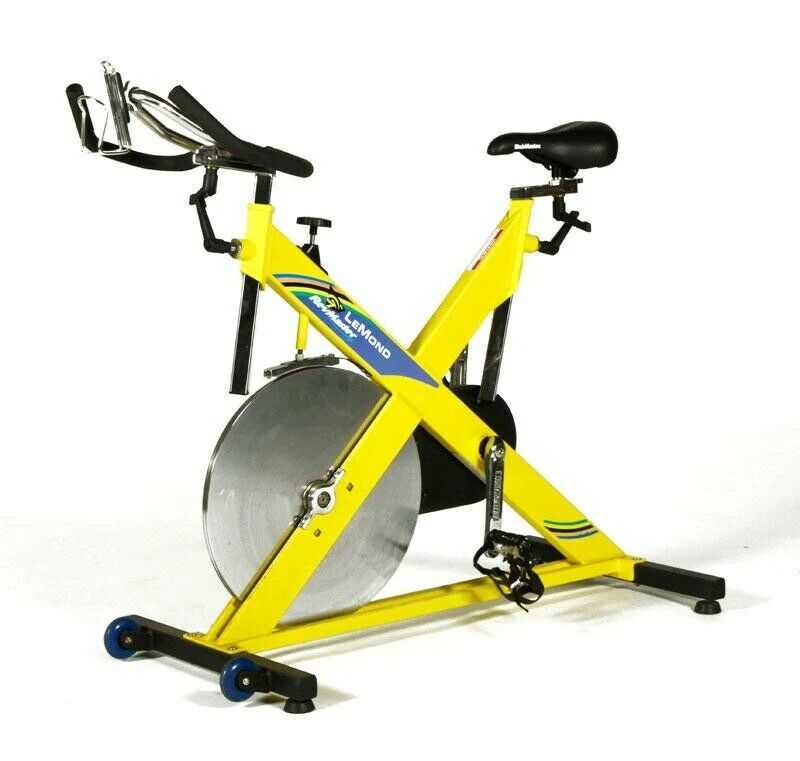 LeMond RevMaster Classic Upright Stationary Bike (Yellow) Indoor Use. Cycling.