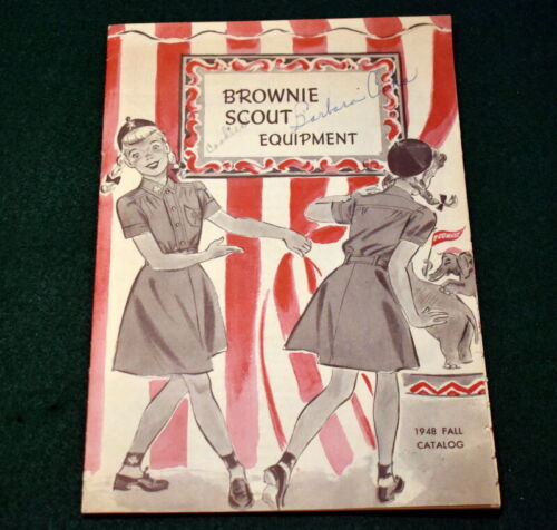 VINTAGE 1948 GIRL SCOUT - BROWNIE EQUIPMENT CATALOG - 16 PAGES