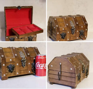 Vintage Large Steampunk Pirates Chest Jewelry Chest Box