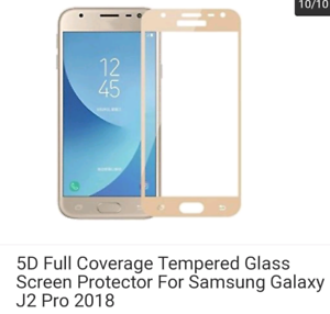 Samsung J2 Pro screen protector (glass) and covers