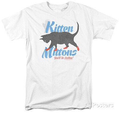 Its Always Sunny In Philadelphia  Kitten Mittons Apparel T Shirt   White