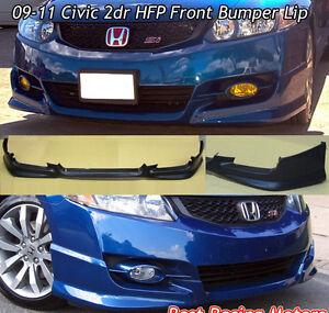 2009 - 11 Honda Civic 2D Coupe HFP Style Front Bumper Lip