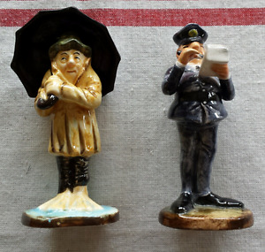 Len Norris Cartoon Figurine Vancouver Sun Policeman Umbrella Man