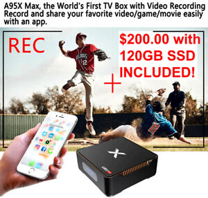 NEW ~ Android 8.1 TV Box w. Recording function, 120GB SSD + VPN!