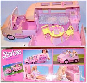BARBIE vintage van magic voyageur + accessories BOX 1989
