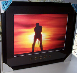 Images in Motion Lenticular Golfer Wall Décor with Focus Theme