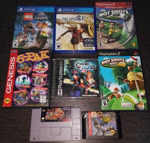 Jeux Super Nintendo, Sega Genesis, Sony PlayStation 1/2/4 Contra