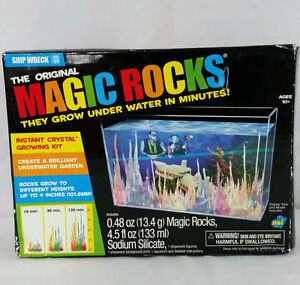 VINTAGE MAGIC ROCKS--DISPLAY TANK & SAILFISH--$20.00 obo