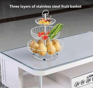 Three layers of stainless steel fruit basket(020093)