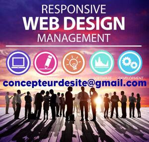 Website Design - conception site web, Businiess Cards