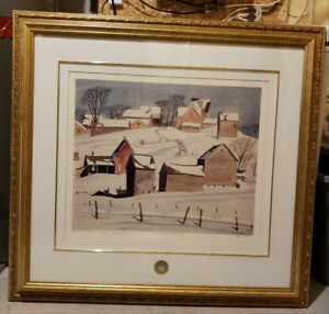 AJ Casson Print with Professional Matting and Frame