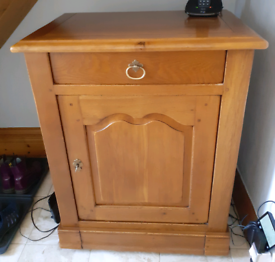 Solid oak lockable cabinet