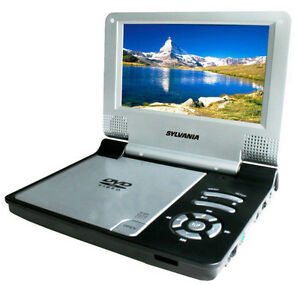 Sylvania 7-inch Portable DVD Player, Black (SDVD7014)