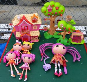 La La Loopsey - Dolls and Play Set - Lot